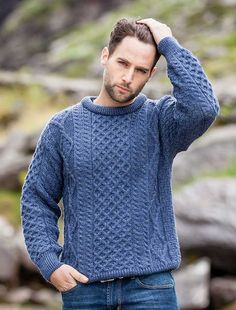 Mens wool sweater, mens Irish sweater | Aran Sweater Market