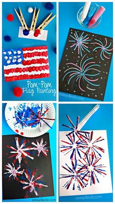 Creative 4th of July Crafts for Kids (Make fireworks, american flags, and more patriotic art projects!)