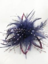 Purple Feather and Sequin Clip Fascinator