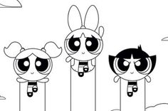 Coloring Page Power Puff Girl