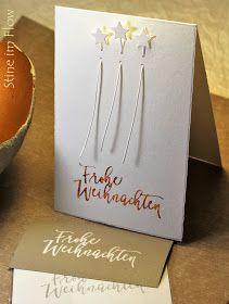 Christmas Cards – Stine im Flow: Glitterflitter Diy Christmas Cards, Diy Christmas Ornaments, Xmas Cards, Diy Cards, Christmas Decorations, Papier Diy, Diy Advent Calendar, Card Tags, Diy Paper