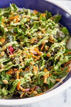 I love the versatility of Swiss chard — I can simply sauté it, or use the leaves in pretty much any way I would spinach — but did you know Swiss chard leaves are also delicious raw? This easy slaw, dressed with a creamy blender avocado dressing, hits all the things I love about slaw; it's crunchy, tangy, and refreshing!