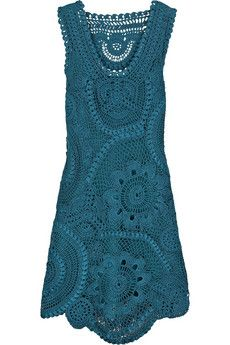 crochet dress turquoise
