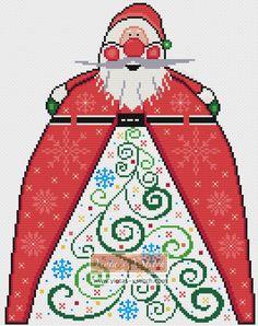 Santa Christmas tree cross stitch kit