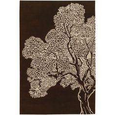Thomas Paul Tufted Pile Java/Cream Tree Rug