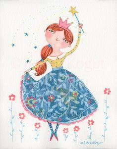 Beautiful Princess Whimsy Chick by Teresa Kogut