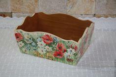 """Купить Короб """"Маки"""" - хлебница, короб для кухни, интерьер кухни, подарок, маки, цветы"""
