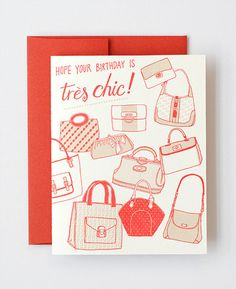 Tres Chic Letterpress Greeting Card design by Julia Rothan for Hello!Lucky