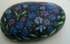 Painted beach stones