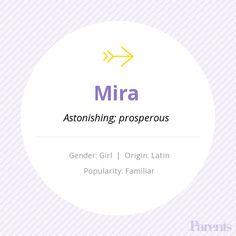Baby Name: Mira