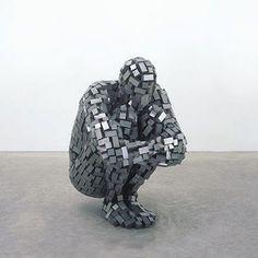 Gormley: Sculpture of a man