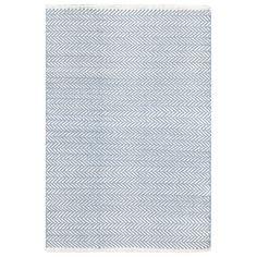 Dash & Albert Herringbone Swedish Blue Cotton Woven Rug SKU: 58606 $33.00 - $564.00