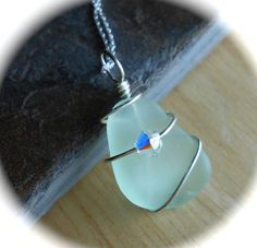 Genuine Sea Glass Jewelry  Seaglass Pendant by SeaFindDesigns, $18.00