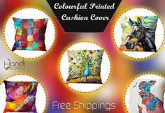 Beautiful Printed Stylish Cushion Cover Online In India Buy At : handicrunch.com