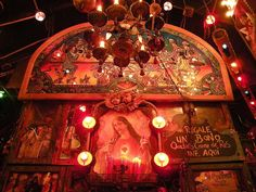 Decoración en las paredes de Andrés carne de res