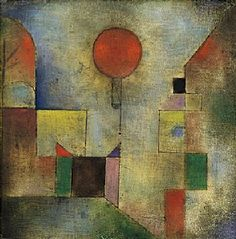 Paul Klee (1879-1940), Roter Ballon (Red Balloon), 1922 (179). Oil on chalk-primed muslin mounted on board. 31.7cm H x 131.1cm W. (Guggenheim Museum, New York)