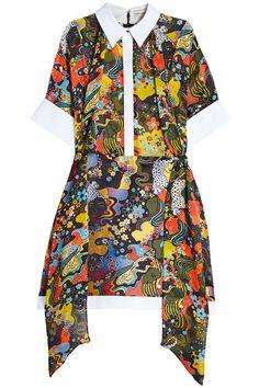New Mary Katrantzou Silk-Blend Mini Dress with Scarf Detail fashion online. [$863]?@shop.sladress<<