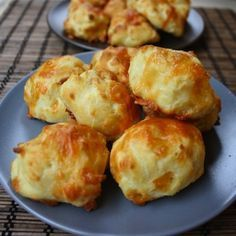 I've made cheese puffs before but I used cheddar cheese and didn't add any milk to the dough. These are made using Gruyere and [I think] it makes all the difference. For a long time I couldn't find Gruyere at th Cheese Puffs, Gruyere Cheese, Cheese Bread, Empanadas, Bite Size Snacks, Tandoori Masala, Meal Prep Plans, Little Lunch, Greek Recipes