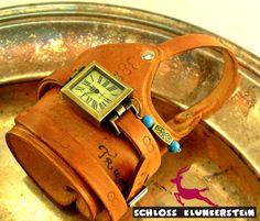 (KUNST)STÜCK 5 Unikat Wickeluhr Armbanduhr Unisex von Schloss Klunkerstein - Uhren, von Hand gefertigter Unikat - Schmuck aus Naturmaterialien, Medaillons, Steampunk -, Shabby - & Vintage - Schätze, sowie viele einzigartige und liebevolle Geschenke ... auf DaWanda.com