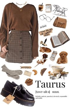 for the book lovers. Discover outfit ideas for The Bull: Taurus made with the shoplook outfit maker. How to wear ideas for fillers and Pencils Fashion Pants, Look Fashion, Girl Fashion, Autumn Fashion, Fashion Outfits, Fashion 2020, Fashion Trends, Retro Outfits, Cute Casual Outfits