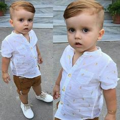 Baby Boy Shirt - Little Boy Outfits - Baby Knits Outfits Niños, Cute Baby Boy Outfits, Boys Summer Outfits, Little Boy Outfits, Toddler Boy Outfits, Kids Clothes Boys, Toddler Boys, Kids Outfits, Church Outfits