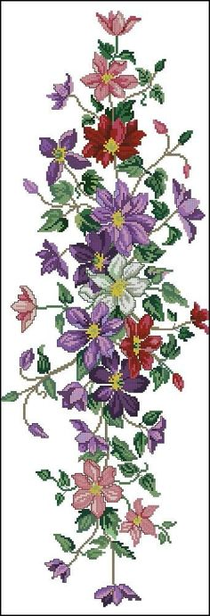 This Pin was discovered by Тат Butterfly Cross Stitch, Cross Stitch Borders, Cross Stitch Rose, Cross Stitch Flowers, Cross Stitch Charts, Cross Stitch Designs, Cross Stitching, Cross Stitch Embroidery, Embroidery Patterns Free