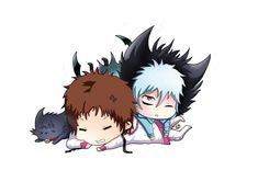 chibi mahiru and kuro /servamp by blutstalker