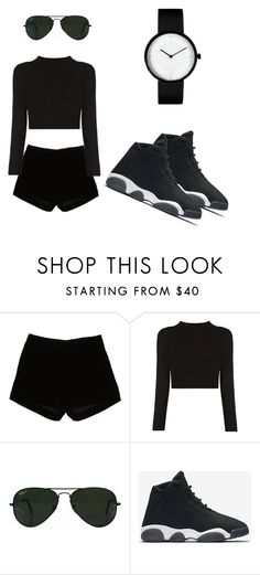 """Untitled #27"" by toyaboswell ❤ liked on Polyvore featuring Andrew Gn, Ray-Ban and NIKE"