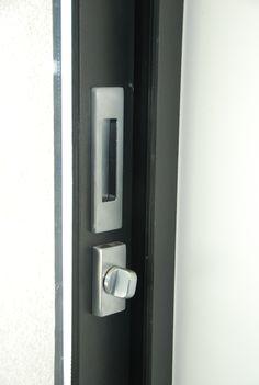 Bouton pour demi fixe - Colombo Design - finition inox brossée - Montée sur coulissant Wicslide 65 gamme WICONA - By Covermetal.