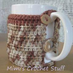 http://mycrochetstuff.blogspot.com/2010/10/crochet-mug-cozy-free-pattern.html