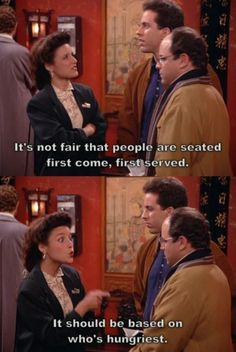 Elaine Benes telling it like it should be