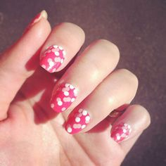 DUUET nail art diy nail stickers PINK CONFETTI par DouxCraft
