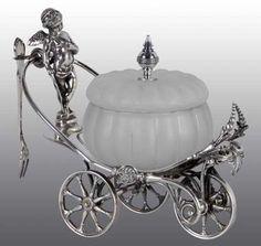 Antique Silver Plate Price Guide: Simpson & Hall Wheeled Cherub Relish Dish