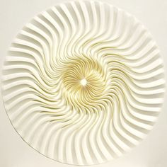 """YUKO NISHIMURA: """"stir"""" 50×50cm 2007 (folded paper)"""