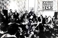 Presentación a la prensa de la nueva formación Izquierda Unida, abril 1986
