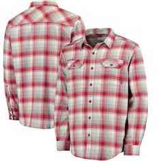 Arkansas Razorbacks Columbia Collegiate Flare Gun Flannel Long Sleeve Button-Up Shirt - Cardinal