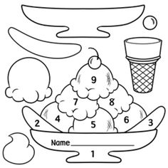 Ice Cream Scoops and Sundae Patterns created by Wendy Candler of Digital Classroom Clipart - Both colored patterns and black & white line art are included in this set. Great for setting up motivational programs! $