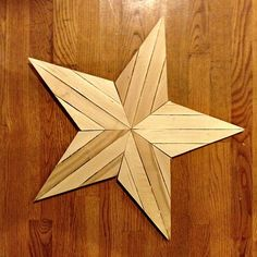 Wood  star made with wood Shims