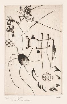 Joan Miró  (Spanish, Barcelona 1893–1983 Palma de Mallorca) | Serie noire et rouge | 1932