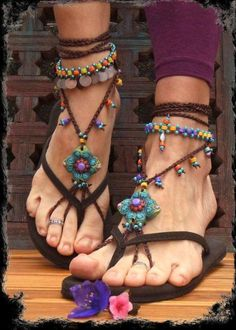 bohemian ethnic barefoot sandals, Bohemian Barefoot Sandals http://www.justtrendygirls.com/bohemian-barefoot-sandals/