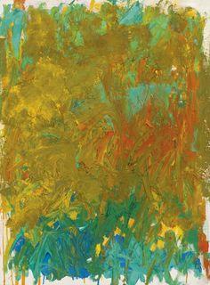 blastedheath:  Joan Mitchell (American, 1925-1992), Untitled, 1981. Oil on canvas, 80.7 x 60cm.