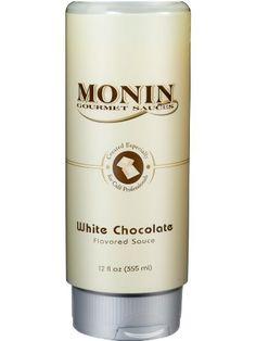 Monin Flavored Sauce, White Chocolate, 12-Ounce Bottles (Pack of 6) by Monin, http://www.amazon.com/dp/B003NVP62K/ref=cm_sw_r_pi_dp_tZE7rb10ADGA9