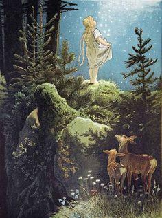 'Lluvia de estrellas'. Ilustración de Viktor P. Mohn, 1882.
