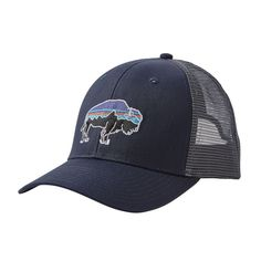 My Bison Mountain Logo Cute Kids Fashion Cool Baseball Hats Mesh Caps