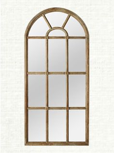 Teak Mirror-I'm so in love with the look of this mirror, I would love it at the end of a hallway . . .
