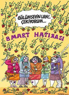 8 Mart Hatırası - Kadınlar Günü Karikatürü - Karikatür | Komik Karikatürler 2013 | Komik Resimler