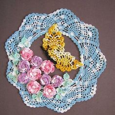 Butterfly in the Roses Doily - $9.95 (as part of an Ebook) by Elizabeth Ann White of Bella Crochet  Butterflies - Animal Crochet Pattern Round Up - Rebeckah's Treasures