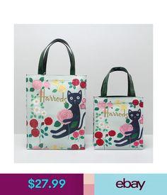 daf9012615 Women s Bags   Handbags Harrods Sweet Cats   Flowers Pvc Tote Bag Top-Handle  Casual Shopper Handbag  ebay  Fashion