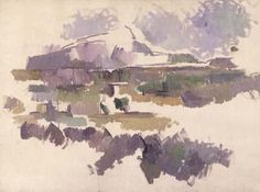 Montagne Sainte Victoire (1904-1905) by Paul Cézanne, watercolor