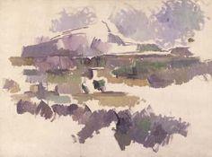 Montagne Sainte Victoire (1904-1905) by Paul Cézanne, watercolor